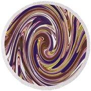 Swirl 88 Round Beach Towel