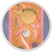 Swirl Body Bubble Person Dancing With Ribbons Twirling Round Beach Towel