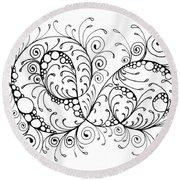 Swirl Haven - Horizontal  Round Beach Towel