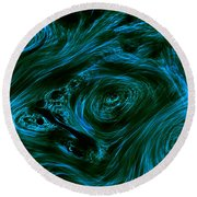 Swirling 3 Round Beach Towel