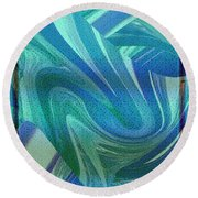 Swirling Abstract Round Beach Towel