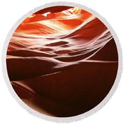 Swirling Layers Of Sandstone Round Beach Towel