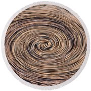 Swirling Sand Round Beach Towel