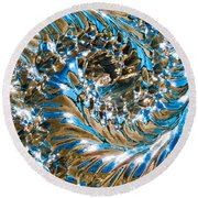 Swirly Mirror Round Beach Towel