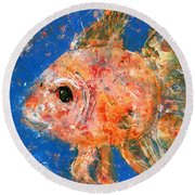Swishy Fishy Round Beach Towel
