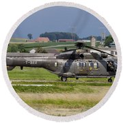 Swiss Air Force Eurocopter Cougar Round Beach Towel