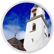 Swiss Church Round Beach Towel
