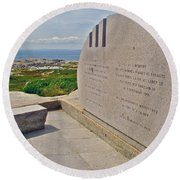 Swissair Flight 111 Of 1998 Memorial In Whalesback-ns Round Beach Towel