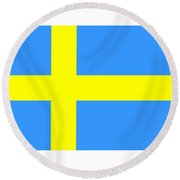 Sweden Flag Round Beach Towel
