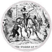 Sybil Ludington, 1776 Round Beach Towel