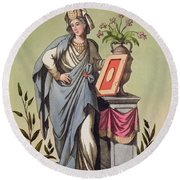 Sybil Of Cumae, No. 16 From Antique Round Beach Towel