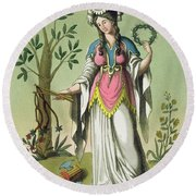 Sybil Of Delphi, No. 15 From Antique Round Beach Towel