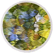 Sycamore Mosaic Round Beach Towel by Christina Rollo