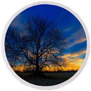 Sycamore Sunset Round Beach Towel