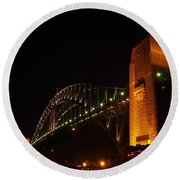 Sydney Harbour Bridge Round Beach Towel