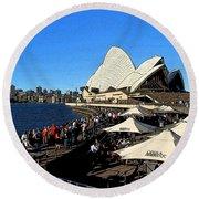 Sydney Opera House Bar Round Beach Towel
