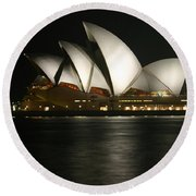 Sydney Opera House Round Beach Towel
