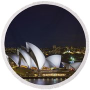 Sydney Opera House In Australia Round Beach Towel