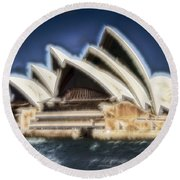 Sydney Opera House V11 Round Beach Towel