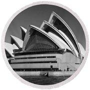 Sydney Opera House Round Beach Towel