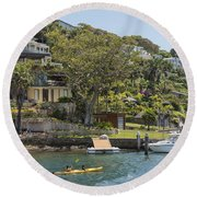 Sydney Seaside Villas Three Round Beach Towel
