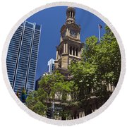 Sydney Town Hall Round Beach Towel
