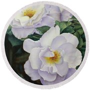 Sydneys Rose Oil Painting Round Beach Towel