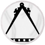 Symbol Cartography Round Beach Towel