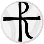 Symbol Christ Round Beach Towel