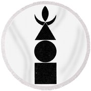 Symbol Four Elements Round Beach Towel