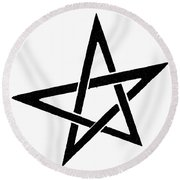 Symbol Pentacle Round Beach Towel