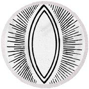 Symbol Vesica Piscis Round Beach Towel