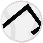 Symbols Chevron Cross Round Beach Towel
