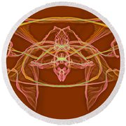 Symmetry Art 2 Round Beach Towel
