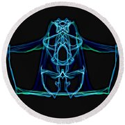 Symmetry Art 3 Round Beach Towel