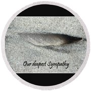 Sympathy Feather Round Beach Towel