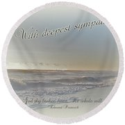 Sympathy Greeting Card - Ocean After Storm Round Beach Towel