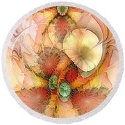 Syncopated Summer Passion Round Beach Towel