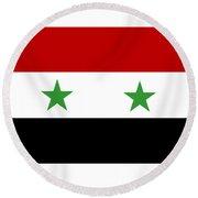 Syria Flag Round Beach Towel