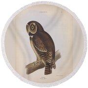 Syrnium Owl Round Beach Towel