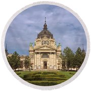 Szechenyi Baths Budapest Hungary Round Beach Towel