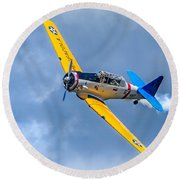 T-6 Texan Flying Round Beach Towel