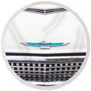 T-bird Hood Round Beach Towel
