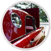 Vintage Car - Opera Window T-bird - Luther Fine Art Round Beach Towel