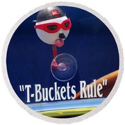T-buckets Rule Round Beach Towel