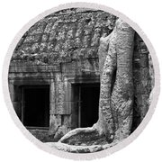 Ta Prohm Roots And Stone 02 Round Beach Towel