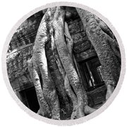 Ta Prohm Roots And Stone 03 Round Beach Towel