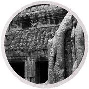 Ta Prohm Roots And Stone 05 Round Beach Towel