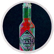 Tabasco Sauce 20130402 Round Beach Towel