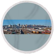 Tacoma City Wide View Round Beach Towel